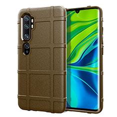 Coque Ultra Fine Silicone Souple 360 Degres Housse Etui C05 pour Xiaomi Mi Note 10 Marron