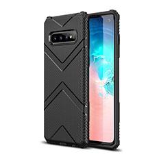 Coque Ultra Fine Silicone Souple 360 Degres Housse Etui C06 pour Samsung Galaxy S10 Noir