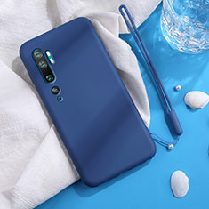Coque Ultra Fine Silicone Souple 360 Degres Housse Etui C06 pour Xiaomi Mi Note 10 Bleu