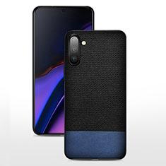 Coque Ultra Fine Silicone Souple 360 Degres Housse Etui C07 pour Samsung Galaxy Note 10 5G Bleu et Noir