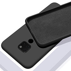 Coque Ultra Fine Silicone Souple 360 Degres Housse Etui C08 pour Huawei Mate 20 Noir