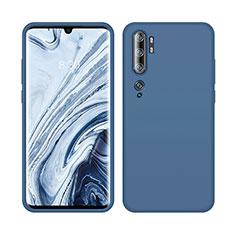 Coque Ultra Fine Silicone Souple 360 Degres Housse Etui C08 pour Xiaomi Mi Note 10 Bleu