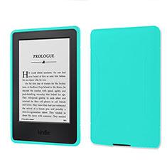 Coque Ultra Fine Silicone Souple 360 Degres Housse Etui pour Amazon Kindle 6 inch Cyan