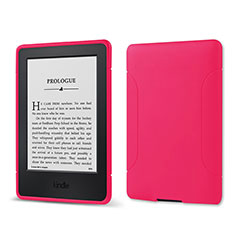 Coque Ultra Fine Silicone Souple 360 Degres Housse Etui pour Amazon Kindle 6 inch Rose Rouge