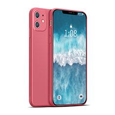 Coque Ultra Fine Silicone Souple 360 Degres Housse Etui pour Apple iPhone 12 Mini Rouge