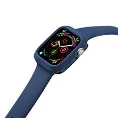 Coque Ultra Fine Silicone Souple 360 Degres Housse Etui pour Apple iWatch 5 44mm Bleu