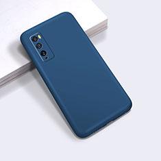 Coque Ultra Fine Silicone Souple 360 Degres Housse Etui pour Huawei Enjoy 20 Pro 5G Bleu