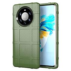 Coque Ultra Fine Silicone Souple 360 Degres Housse Etui pour Huawei Mate 40 Pro+ Plus Vert Armee