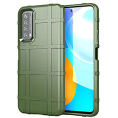 Coque Ultra Fine Silicone Souple 360 Degres Housse Etui pour Huawei P Smart (2021) Vert Armee