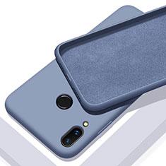 Coque Ultra Fine Silicone Souple 360 Degres Housse Etui pour Huawei P Smart+ Plus Bleu