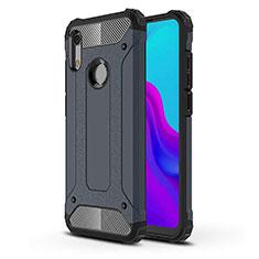 Coque Ultra Fine Silicone Souple 360 Degres Housse Etui pour Huawei Y6 (2019) Bleu
