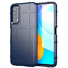 Coque Ultra Fine Silicone Souple 360 Degres Housse Etui pour Huawei Y7a Bleu