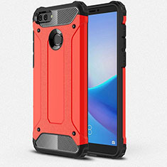 Coque Ultra Fine Silicone Souple 360 Degres Housse Etui pour Huawei Y9 (2018) Rouge