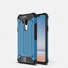 Coque Ultra Fine Silicone Souple 360 Degres Housse Etui pour LG G7 Bleu