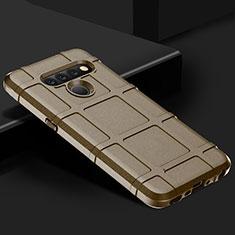 Coque Ultra Fine Silicone Souple 360 Degres Housse Etui pour LG V50 ThinQ 5G Marron