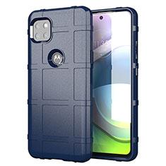 Coque Ultra Fine Silicone Souple 360 Degres Housse Etui pour Motorola Moto G 5G Bleu