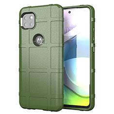 Coque Ultra Fine Silicone Souple 360 Degres Housse Etui pour Motorola Moto G 5G Vert Armee