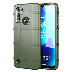 Coque Ultra Fine Silicone Souple 360 Degres Housse Etui pour Motorola Moto G8 Power Lite Vert