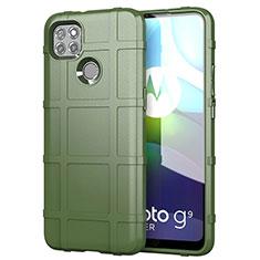 Coque Ultra Fine Silicone Souple 360 Degres Housse Etui pour Motorola Moto G9 Power Vert Armee