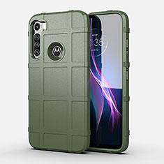 Coque Ultra Fine Silicone Souple 360 Degres Housse Etui pour Motorola Moto One Fusion Plus Vert