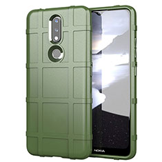 Coque Ultra Fine Silicone Souple 360 Degres Housse Etui pour Nokia 2.4 Vert Armee
