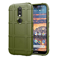 Coque Ultra Fine Silicone Souple 360 Degres Housse Etui pour Nokia 4.2 Vert Armee