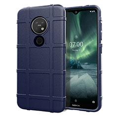 Coque Ultra Fine Silicone Souple 360 Degres Housse Etui pour Nokia 7.2 Bleu