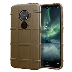 Coque Ultra Fine Silicone Souple 360 Degres Housse Etui pour Nokia 7.2 Marron