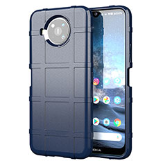 Coque Ultra Fine Silicone Souple 360 Degres Housse Etui pour Nokia 8.3 5G Bleu