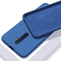 Coque Ultra Fine Silicone Souple 360 Degres Housse Etui pour Oppo Reno2 Z Bleu