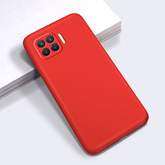 Coque Ultra Fine Silicone Souple 360 Degres Housse Etui pour Oppo Reno4 F Rouge