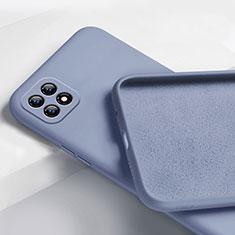 Coque Ultra Fine Silicone Souple 360 Degres Housse Etui pour Oppo Reno4 SE 5G Gris Lavende