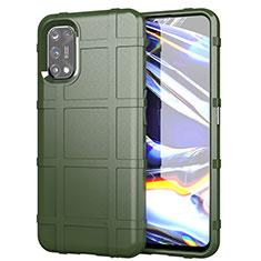 Coque Ultra Fine Silicone Souple 360 Degres Housse Etui pour Realme 7 Pro Vert Armee