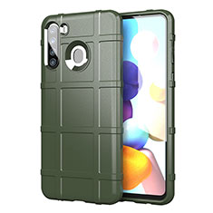 Coque Ultra Fine Silicone Souple 360 Degres Housse Etui pour Samsung Galaxy A21 Vert Armee