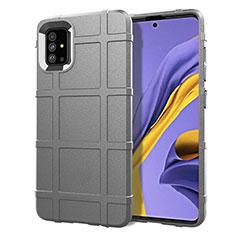 Coque Ultra Fine Silicone Souple 360 Degres Housse Etui pour Samsung Galaxy A51 4G Gris