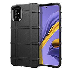 Coque Ultra Fine Silicone Souple 360 Degres Housse Etui pour Samsung Galaxy A51 4G Noir