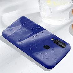Coque Ultra Fine Silicone Souple 360 Degres Housse Etui pour Samsung Galaxy A60 Bleu