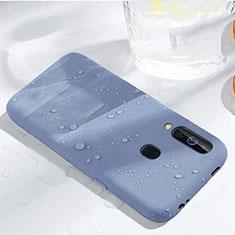 Coque Ultra Fine Silicone Souple 360 Degres Housse Etui pour Samsung Galaxy A60 Bleu Ciel