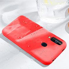 Coque Ultra Fine Silicone Souple 360 Degres Housse Etui pour Samsung Galaxy A60 Rouge