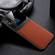 Coque Ultra Fine Silicone Souple 360 Degres Housse Etui pour Samsung Galaxy M21s Marron