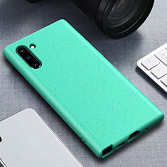 Coque Ultra Fine Silicone Souple 360 Degres Housse Etui pour Samsung Galaxy Note 10 Cyan