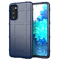 Coque Ultra Fine Silicone Souple 360 Degres Housse Etui pour Samsung Galaxy S20 FE 5G Bleu