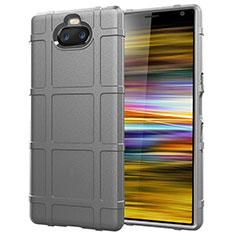 Coque Ultra Fine Silicone Souple 360 Degres Housse Etui pour Sony Xperia 10 Plus Argent
