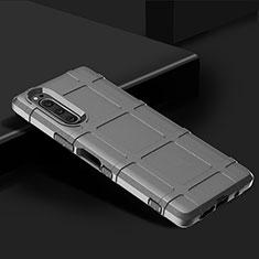 Coque Ultra Fine Silicone Souple 360 Degres Housse Etui pour Sony Xperia 5 Argent