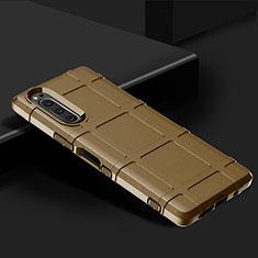 Coque Ultra Fine Silicone Souple 360 Degres Housse Etui pour Sony Xperia 5 Marron
