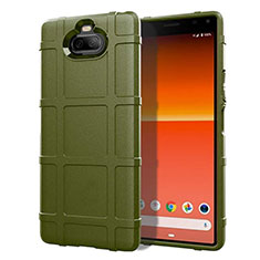 Coque Ultra Fine Silicone Souple 360 Degres Housse Etui pour Sony Xperia 8 Lite Vert Armee