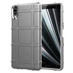 Coque Ultra Fine Silicone Souple 360 Degres Housse Etui pour Sony Xperia L3 Argent