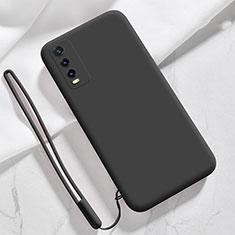 Coque Ultra Fine Silicone Souple 360 Degres Housse Etui pour Vivo Y12s Noir