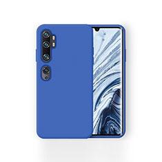 Coque Ultra Fine Silicone Souple 360 Degres Housse Etui pour Xiaomi Mi Note 10 Bleu
