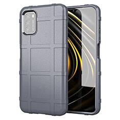 Coque Ultra Fine Silicone Souple 360 Degres Housse Etui pour Xiaomi Poco M3 Gris